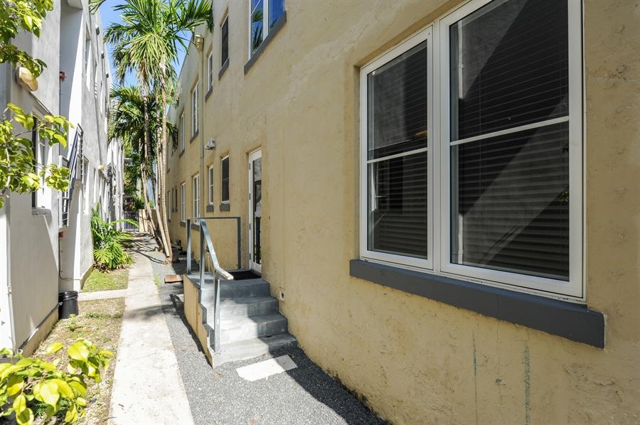 Real Estate Photography - 1018 Meridian Ave, #1, Miami Beach, FL, 33139 - Kitchen Door & Porch
