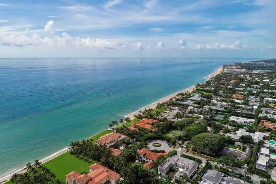 Real Estate Photography - 105 Casa Bendita, Palm Beach, FL, 33480 - Aerial View