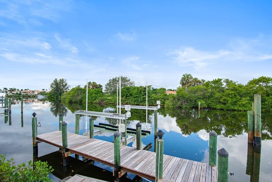 Real Estate Photography - 3231 Tidegate Circle, Jupiter, FL, 33477 - Dock