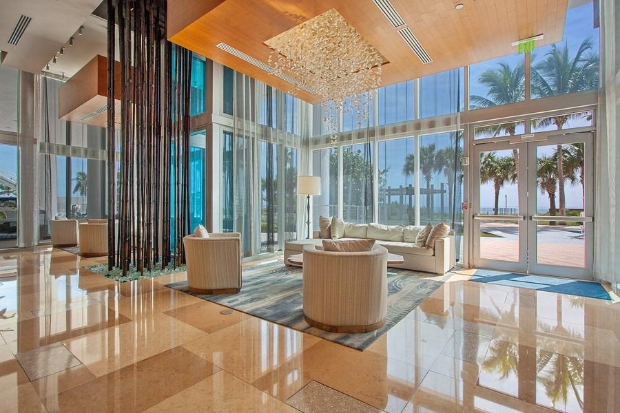 Real Estate Photography - 6899 Collins Avenue, #905, Miami, FL, 33141 - Lobby