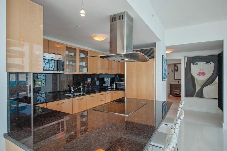 Real Estate Photography - 6899 Collins Avenue, #905, Miami, FL, 33141 - Kitchen