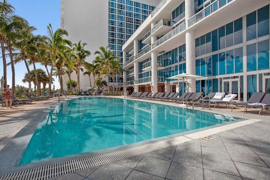Real Estate Photography - 6899 Collins Avenue, #905, Miami, FL, 33141 - Pool