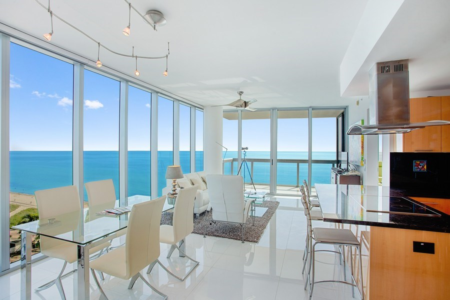Real Estate Photography - 6899 Collins Avenue, #905, Miami, FL, 33141 - Living Room / Dining Room