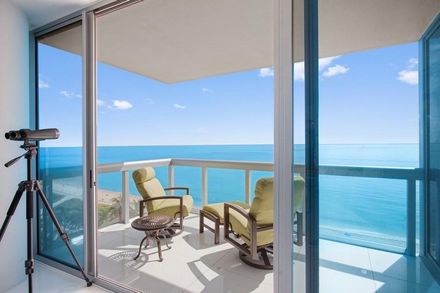 Real Estate Photography - 6899 Collins Avenue, #905, Miami, FL, 33141 - Balcony