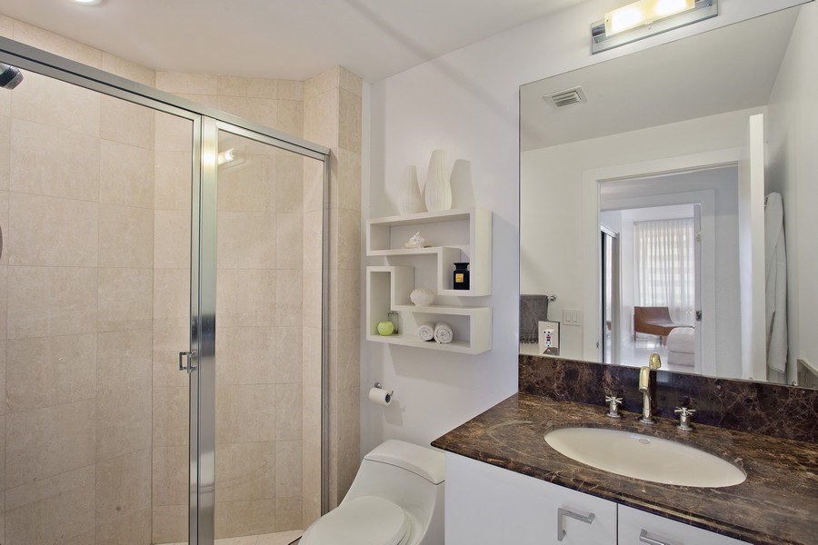 Real Estate Photography - 60 Edgewater Drive, Miami, FL, 33133 - 2nd Bathroom