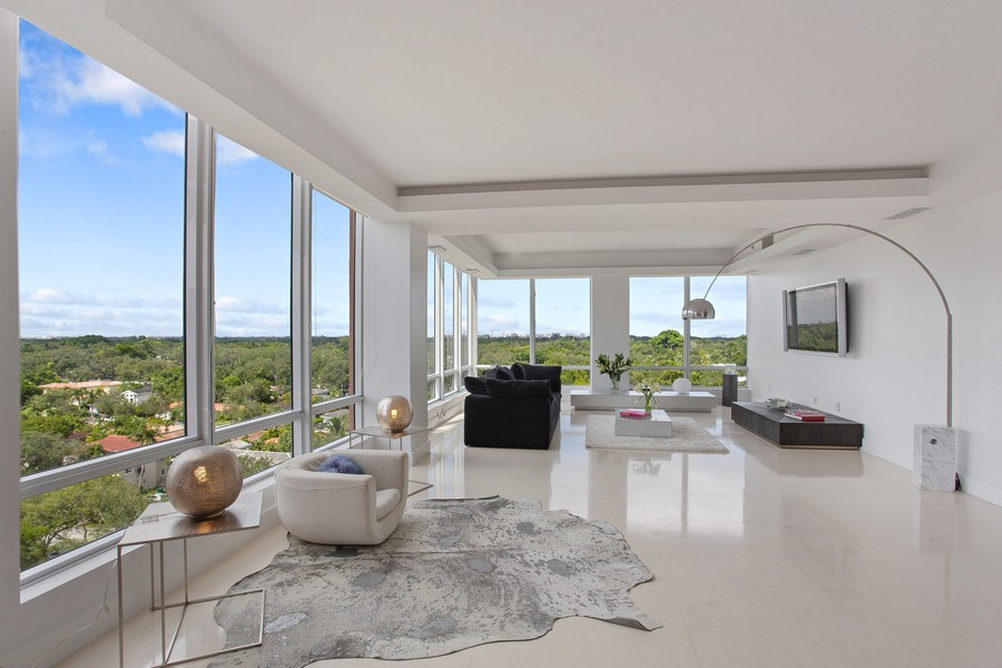 Real Estate Photography - 60 Edgewater Drive, Miami, FL, 33133 - Living Room
