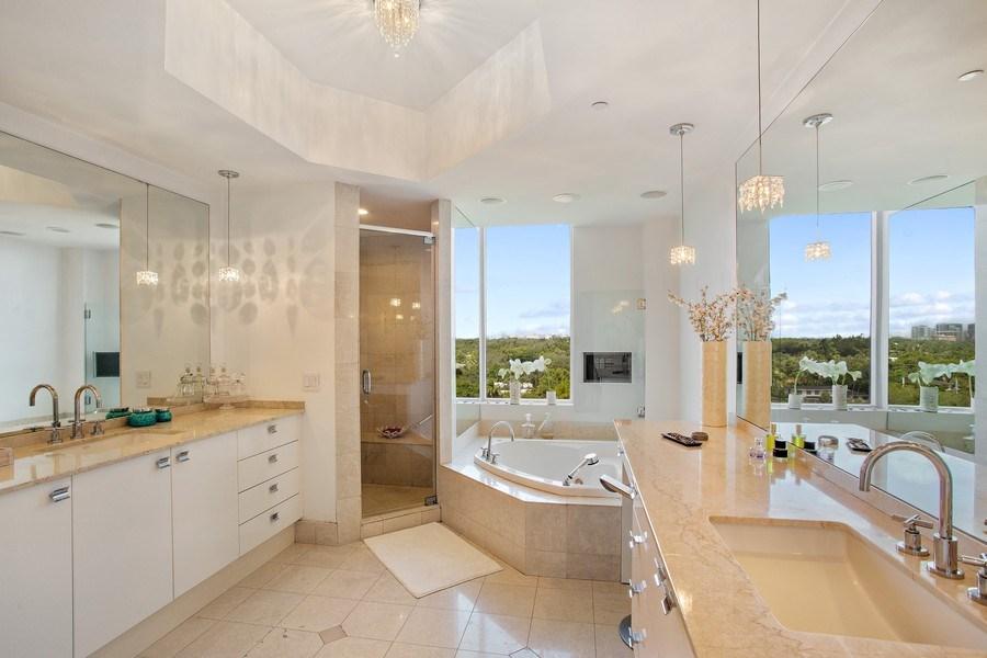 Real Estate Photography - 60 Edgewater Drive, Miami, FL, 33133 - Master Bathroom