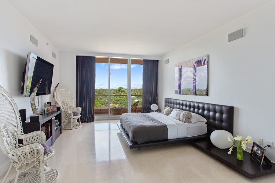 Real Estate Photography - 60 Edgewater Drive, Miami, FL, 33133 - Master Bedroom