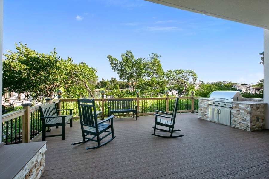 Real Estate Photography - 6018 Paradise Point Drive, Palmetto Bay, FL, 33157 - Patio