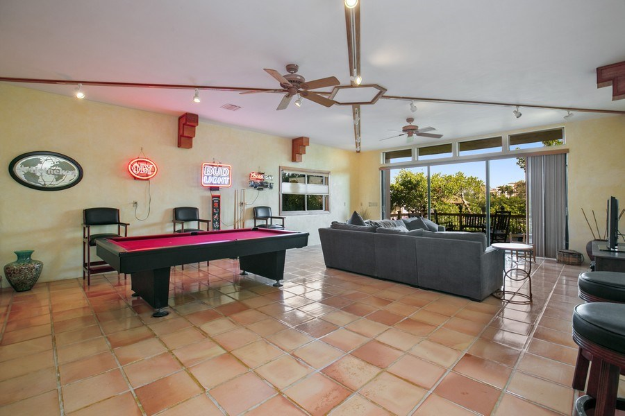 Real Estate Photography - 6018 Paradise Point Drive, Palmetto Bay, FL, 33157 - Family Room