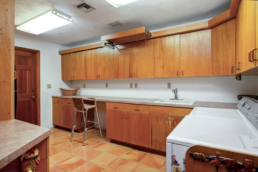 Real Estate Photography - 6018 Paradise Point Drive, Palmetto Bay, FL, 33157 - Laundry Room