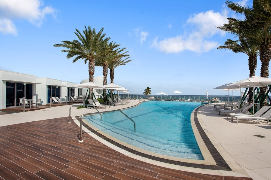 Real Estate Photography - 701 N. Ft. Lauderdale Beach Blvd. #1201, Fort Lauderdale, FL, 33304 - Pool