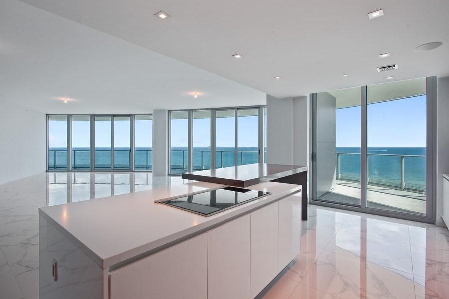 Real Estate Photography - 701 N. Ft. Lauderdale Beach Blvd. #1201, Fort Lauderdale, FL, 33304 - Kitchen / Living Room