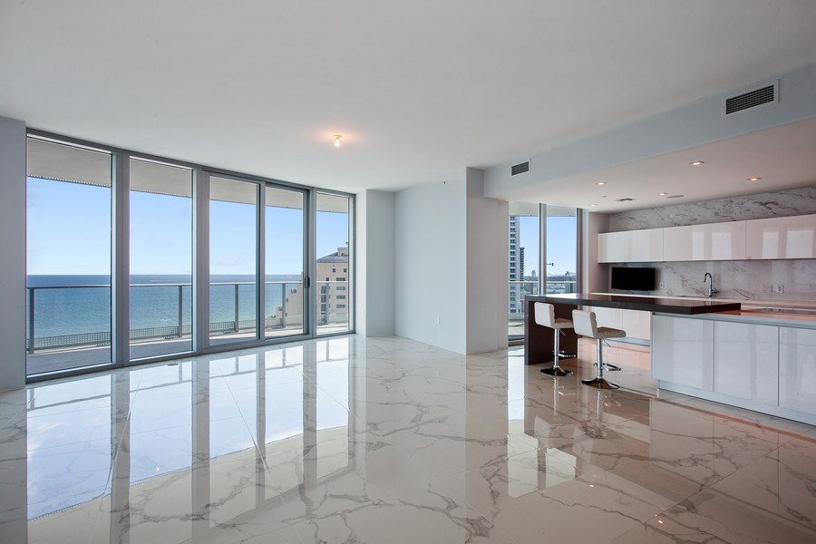 Real Estate Photography - 701 N. Ft. Lauderdale Beach Blvd. #1201, Fort Lauderdale, FL, 33304 - Kitchen / Dining Room
