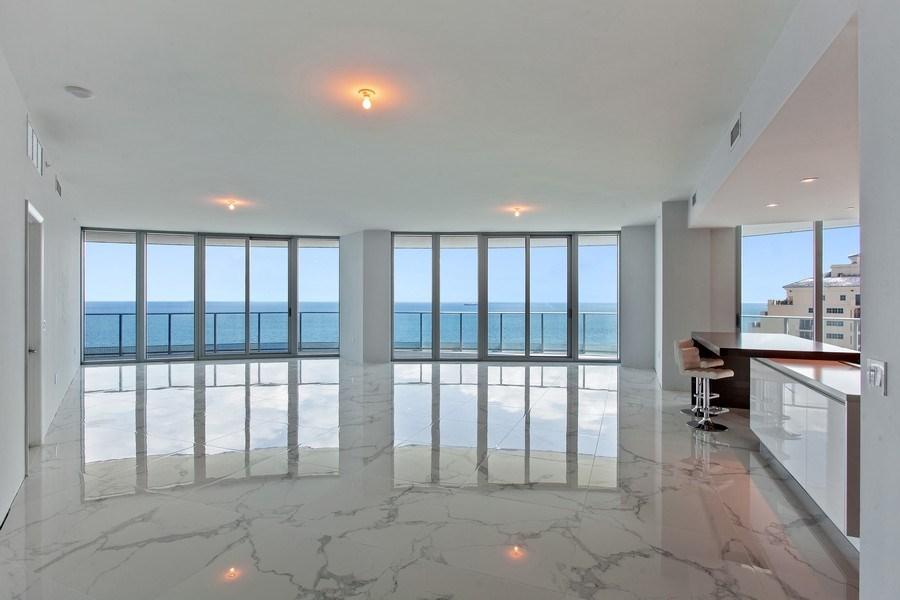 Real Estate Photography - 701 N. Ft. Lauderdale Beach Blvd. #1201, Fort Lauderdale, FL, 33304 - Living Room / Dining Room