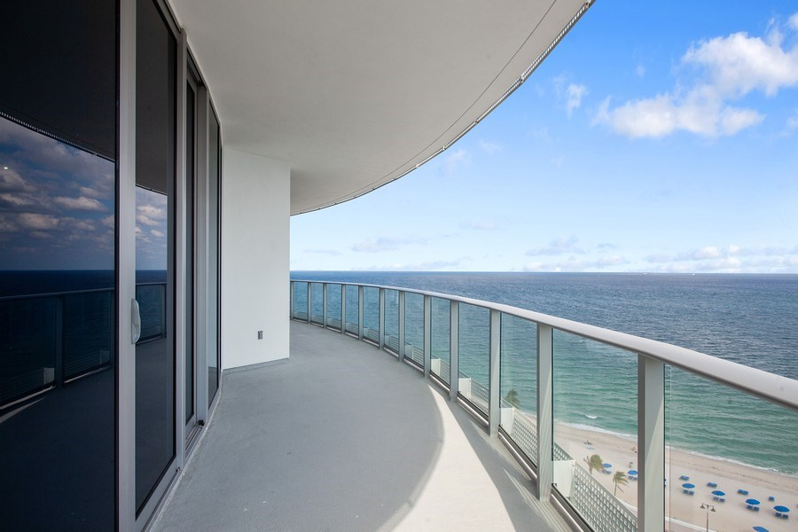 Real Estate Photography - 701 N. Ft. Lauderdale Beach Blvd. #1201, Fort Lauderdale, FL, 33304 - Balcony