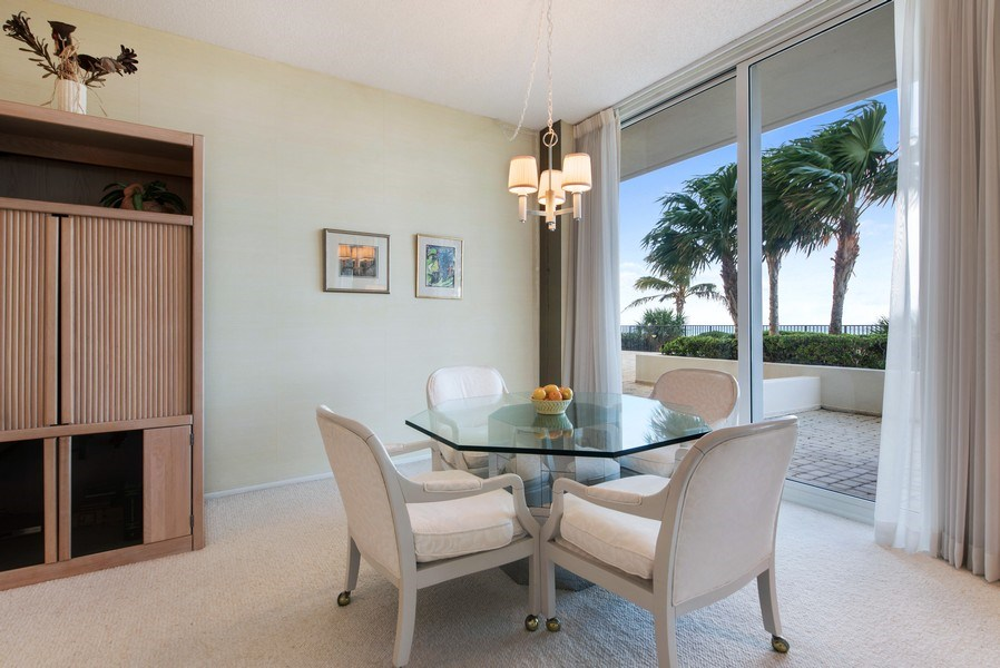 Real Estate Photography - 2800 S. Ocean Blvd., #1H, Boca Raton, FL, 33432 - Dining Area
