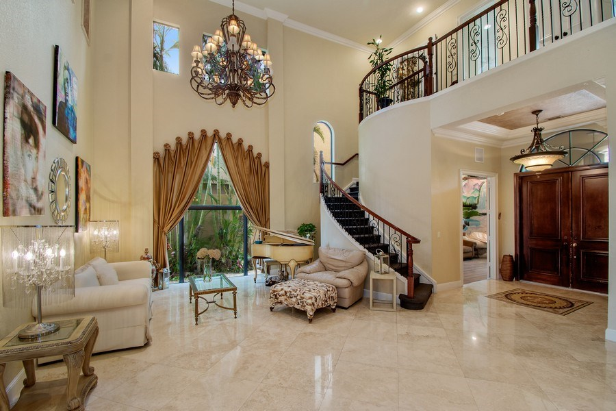 Real Estate Photography - 17947 Lake Azure Way, Boca Raton, FL, 33496 - Living Room