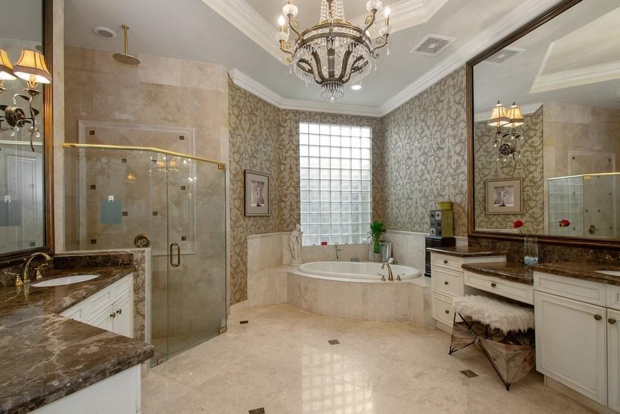 Real Estate Photography - 17947 Lake Azure Way, Boca Raton, FL, 33496 - Master Bathroom