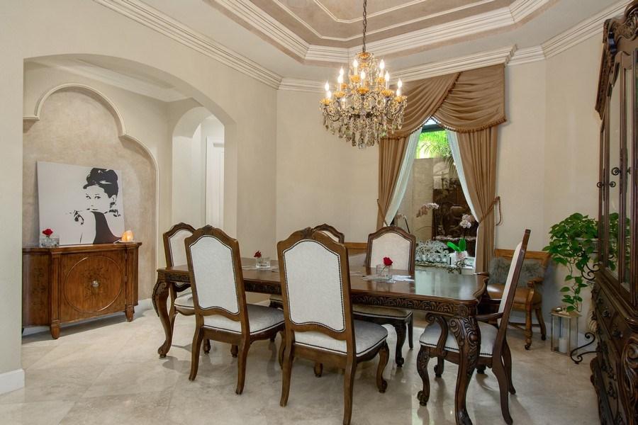 Real Estate Photography - 17947 Lake Azure Way, Boca Raton, FL, 33496 - Dining Room