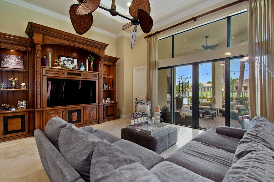Real Estate Photography - 17947 Lake Azure Way, Boca Raton, FL, 33496 - Family Room