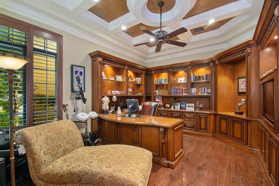 Real Estate Photography - 17947 Lake Azure Way, Boca Raton, FL, 33496 - Office