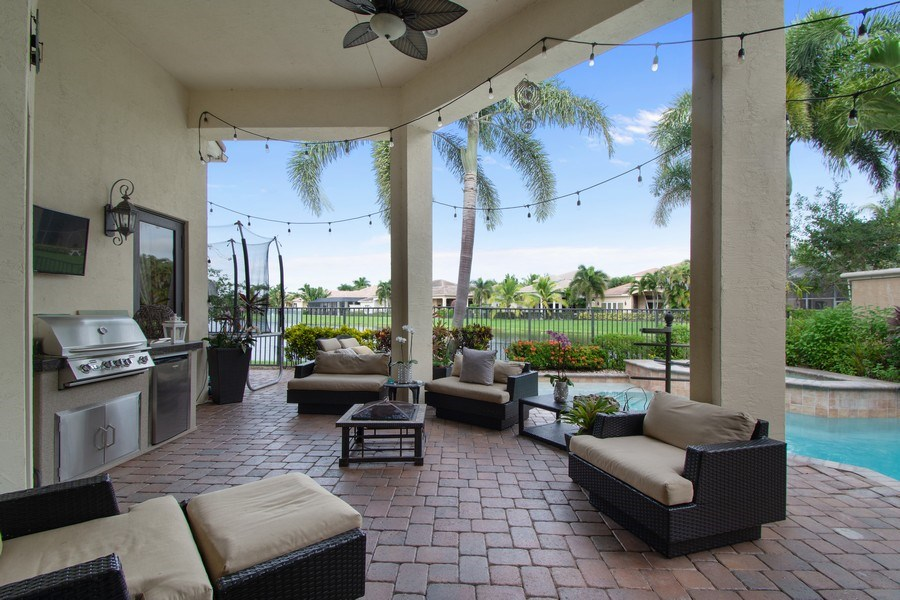 Real Estate Photography - 17947 Lake Azure Way, Boca Raton, FL, 33496 - Patio