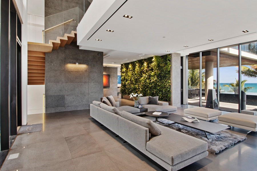 Real Estate Photography - 3715 S. Ocean Blvd., Highland Beach, FL, 33487 - Living Room