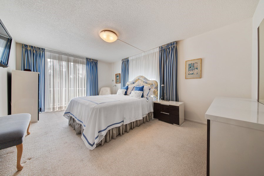 Real Estate Photography - 100 Worth Avenue, #220, Palm Beach, FL, 33480 - Master Bedroom