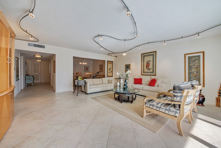 Real Estate Photography - 100 Worth Avenue, #220, Palm Beach, FL, 33480 - Living Room / Dining Room