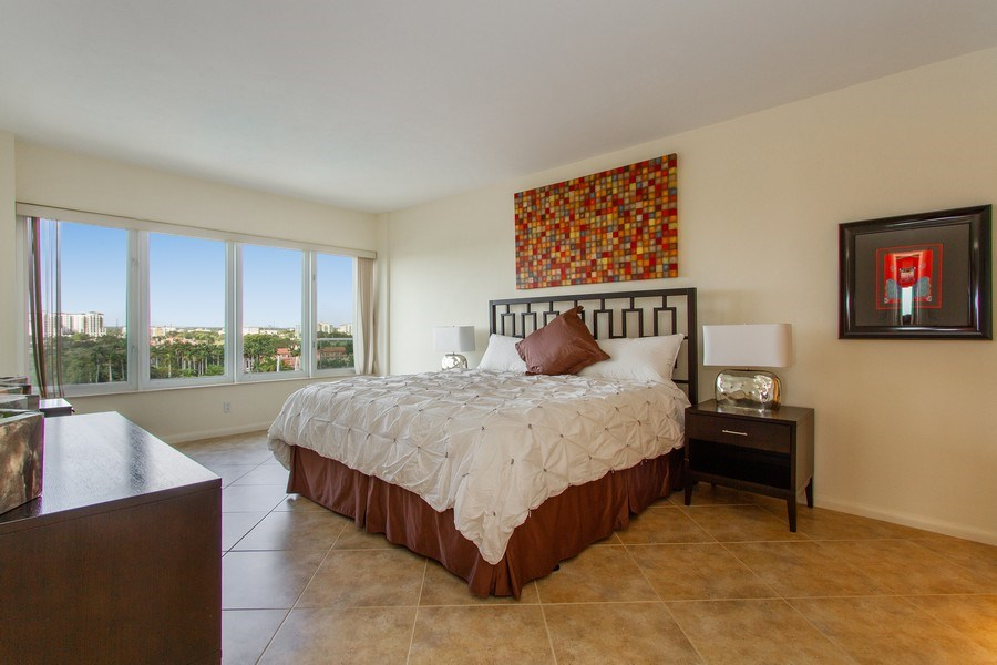 Real Estate Photography - 701 E. Camino Real, #11F, Boca Raton, FL, 33432 - Master Bedroom
