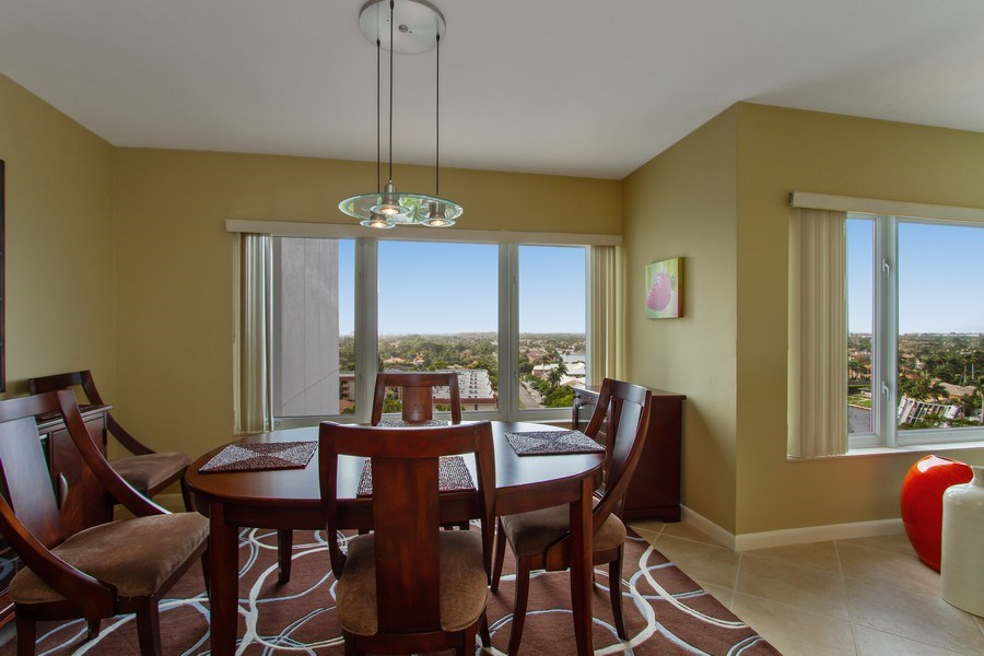 Real Estate Photography - 701 E. Camino Real, #11F, Boca Raton, FL, 33432 - Dining Room
