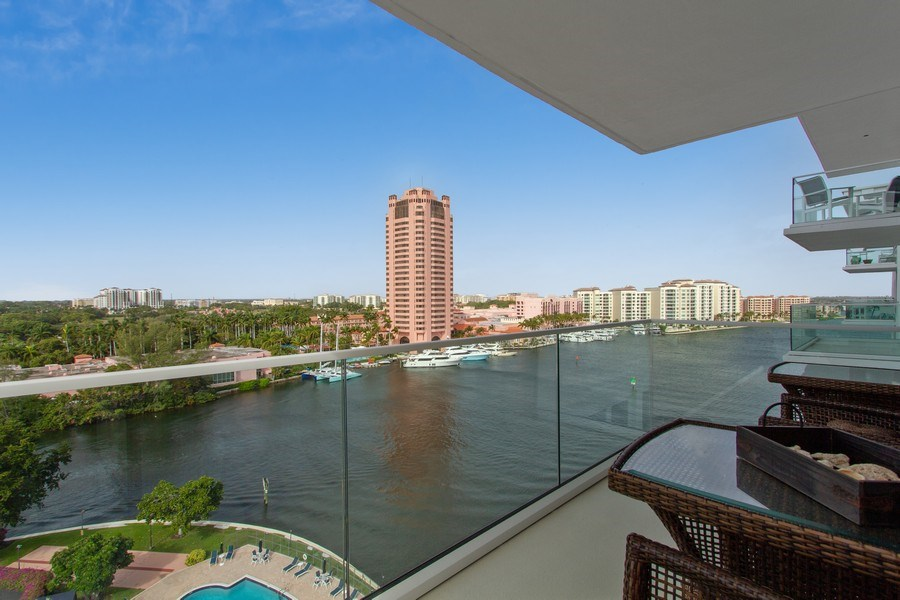Real Estate Photography - 701 E. Camino Real, #11F, Boca Raton, FL, 33432 - Balcony
