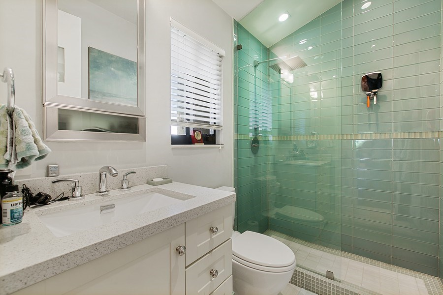 Real Estate Photography - 2000 S. Bayshore Drive, #43, Miami, FL, 33133 - Guest Bathroom Upstairs