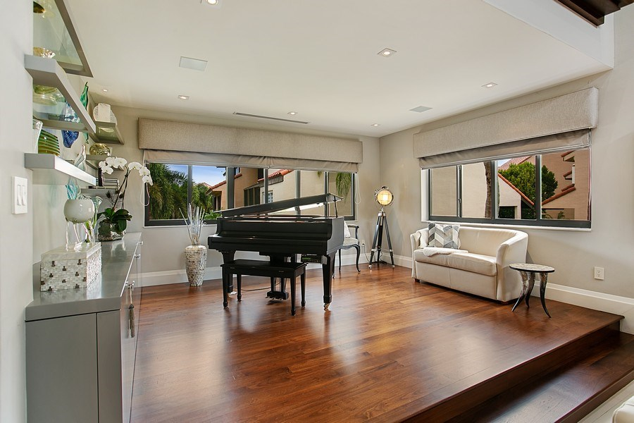 Real Estate Photography - 2000 S. Bayshore Drive, #43, Miami, FL, 33133 - Sitting Area/ Music Area adjacent to Living Room