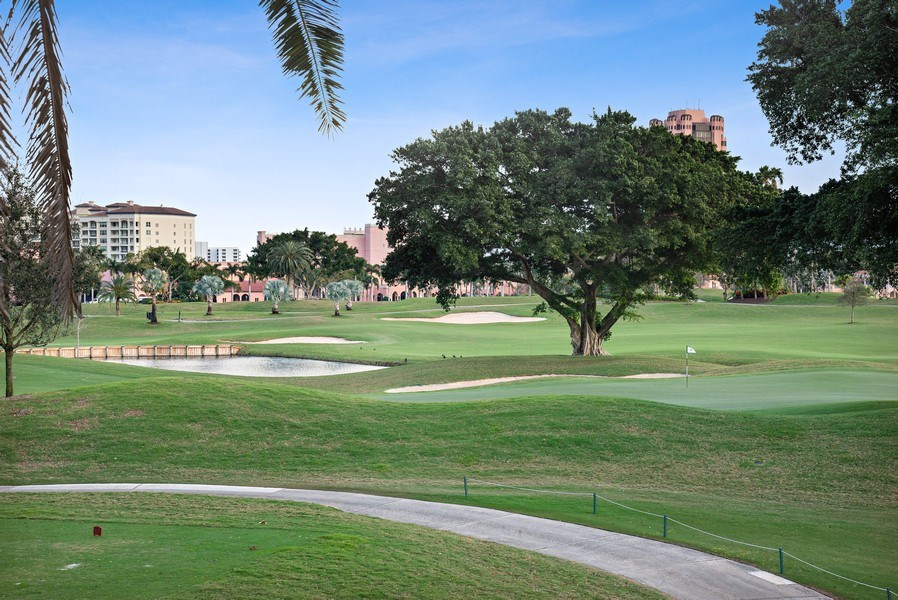 Real Estate Photography - 550 SE Mizner Blvd., #B101, Boca Raton, FL, 33432 - Golf Course