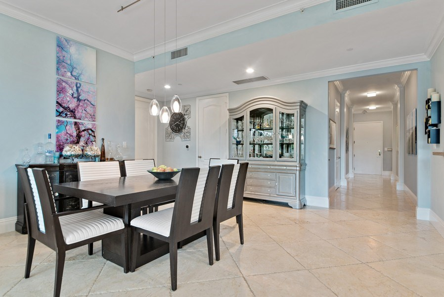 Real Estate Photography - 550 SE Mizner Blvd., #B101, Boca Raton, FL, 33432 - Foyer/Dining Room