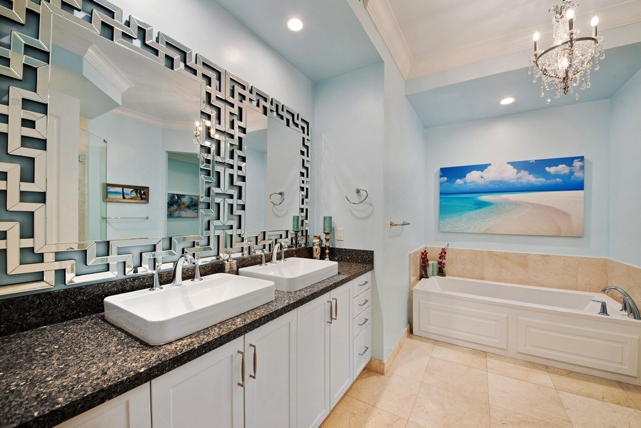 Real Estate Photography - 550 SE Mizner Blvd., #B101, Boca Raton, FL, 33432 - Master Bathroom