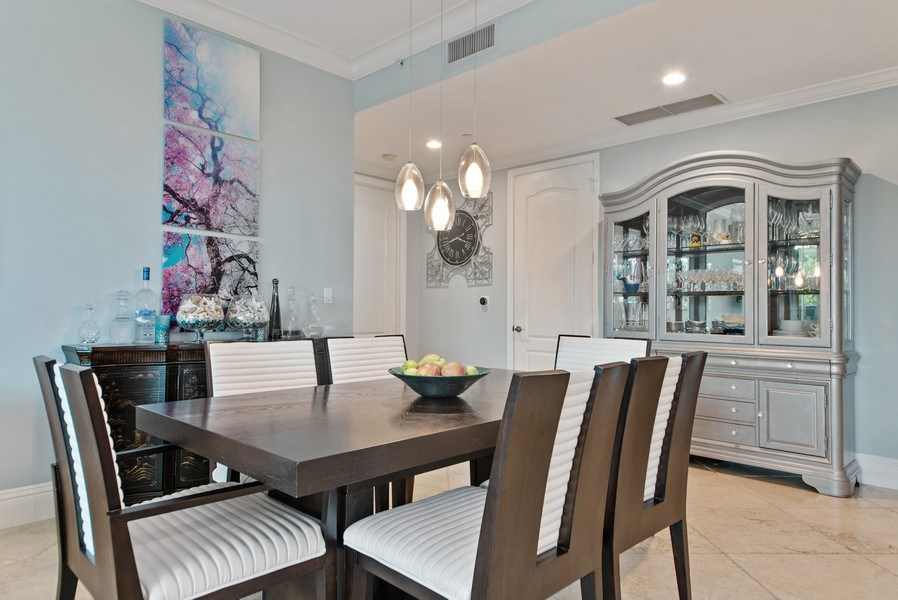 Real Estate Photography - 550 SE Mizner Blvd., #B101, Boca Raton, FL, 33432 - Dining Room