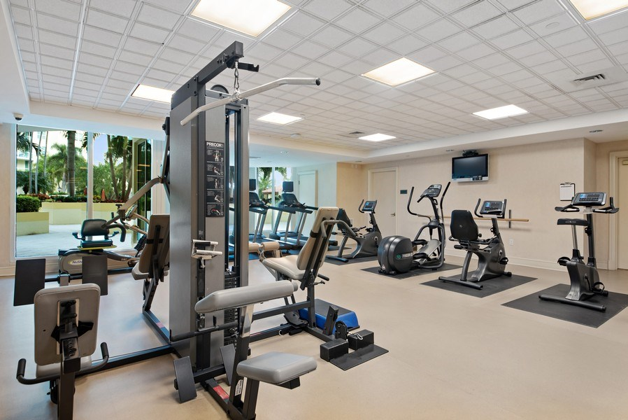 Real Estate Photography - 550 SE Mizner Blvd., #B101, Boca Raton, FL, 33432 - Fitness Center