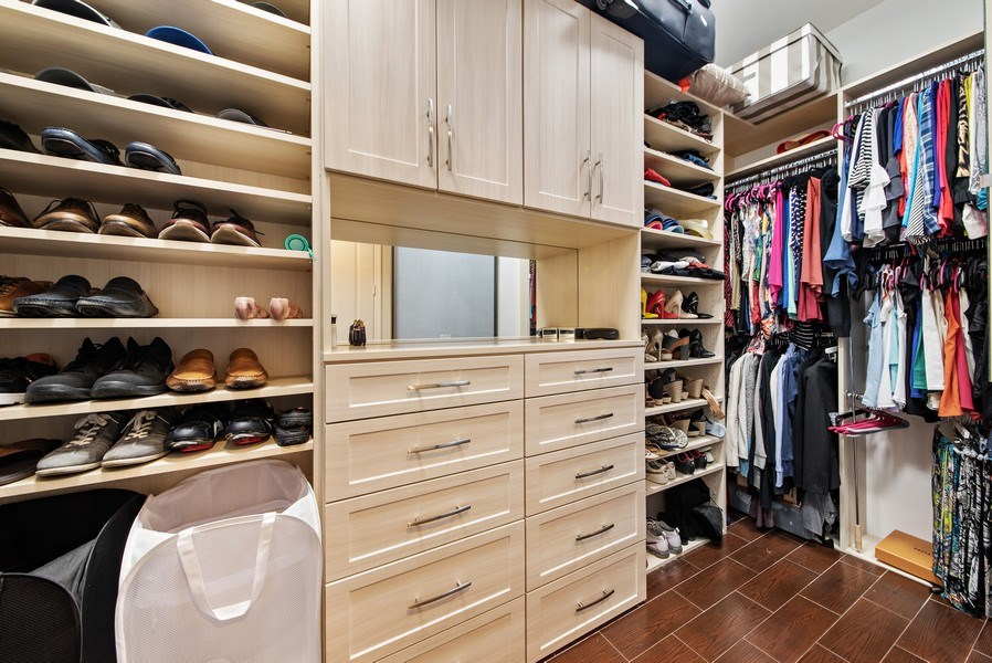 Real Estate Photography - 550 SE Mizner Blvd., #B101, Boca Raton, FL, 33432 - Master Bedroom Closet