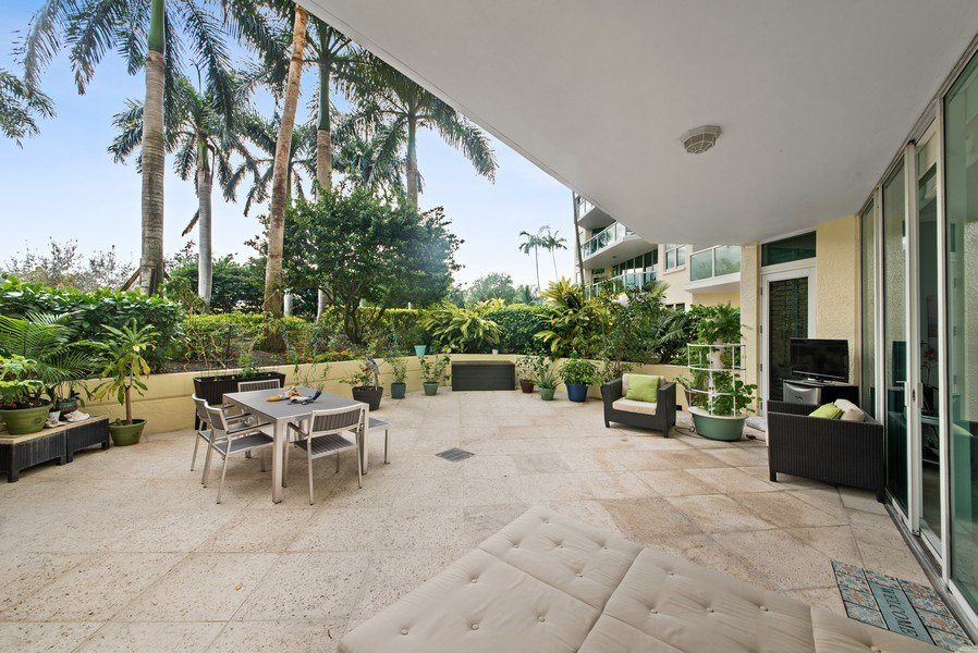 Real Estate Photography - 550 SE Mizner Blvd., #B101, Boca Raton, FL, 33432 - Patio