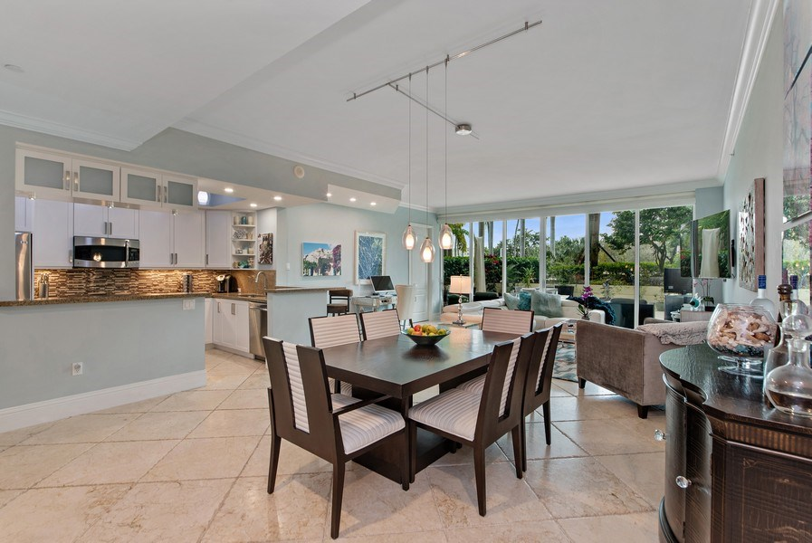 Real Estate Photography - 550 SE Mizner Blvd., #B101, Boca Raton, FL, 33432 - Kitchen / Dining Room