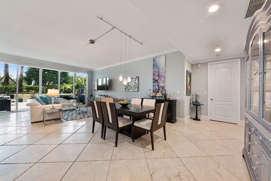 Real Estate Photography - 550 SE Mizner Blvd., #B101, Boca Raton, FL, 33432 - Living Room / Dining Room