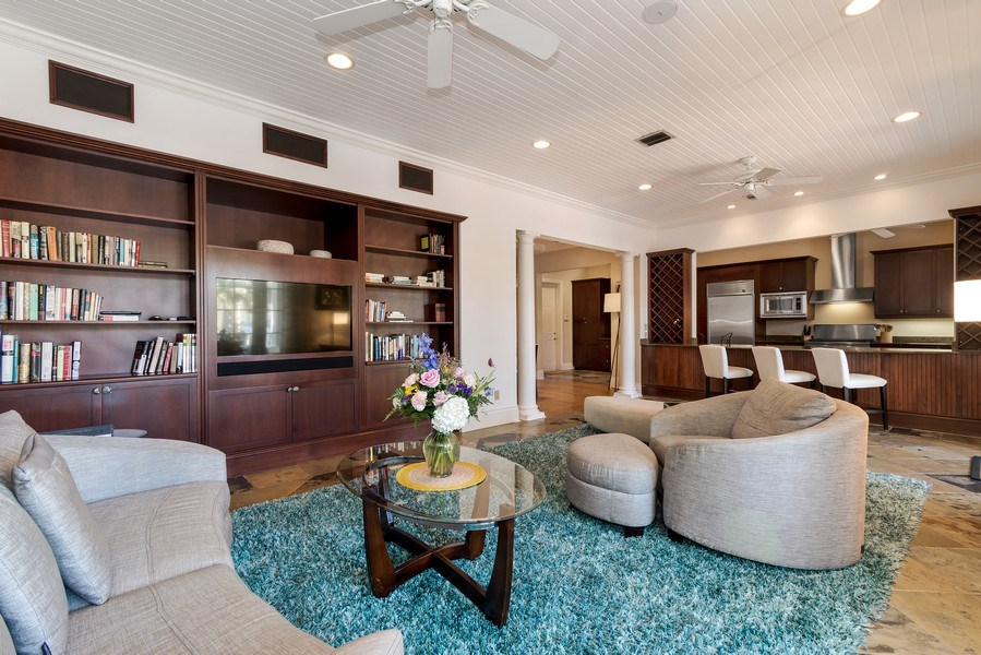 Real Estate Photography - 700 SE 25th Avenue, Fort Lauderdale, FL, 33301 - Family Room / Kitchen