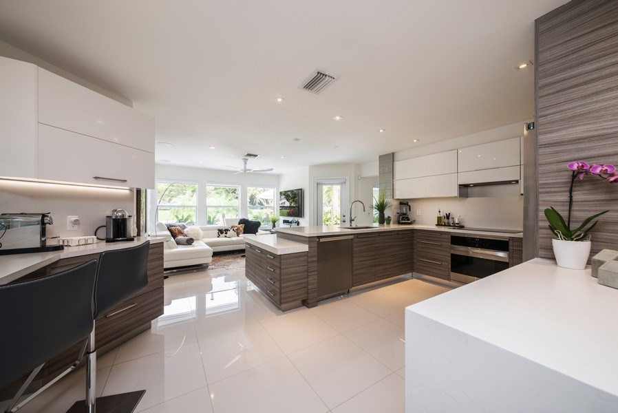 Real Estate Photography - 2147 NW 53rd Street, Boca Raton, FL, 33496 - Family Room / Kitchen