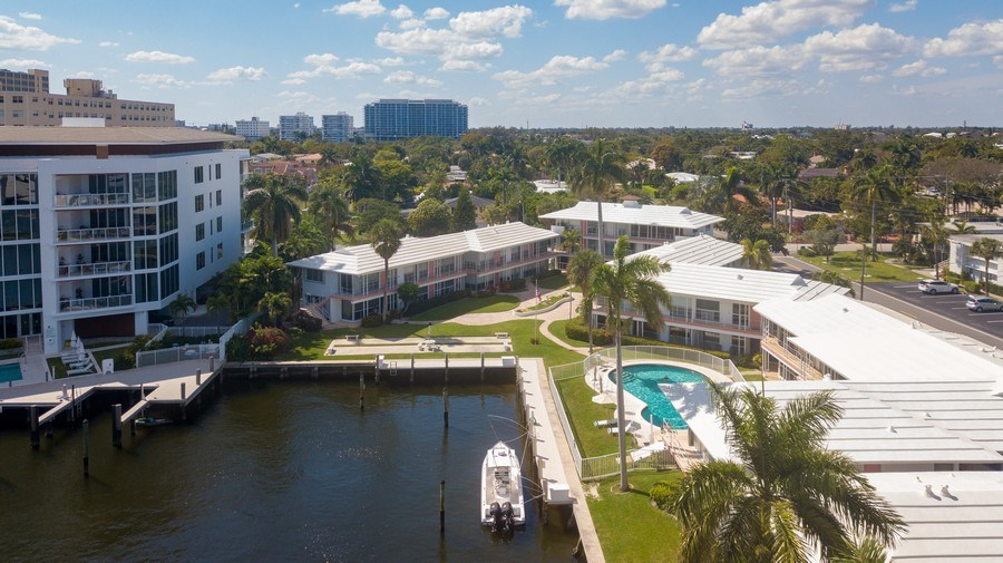 Real Estate Photography - 1124 Seminole Drive, #2A, Fort Lauderdale, FL, 33304 - Aerial View
