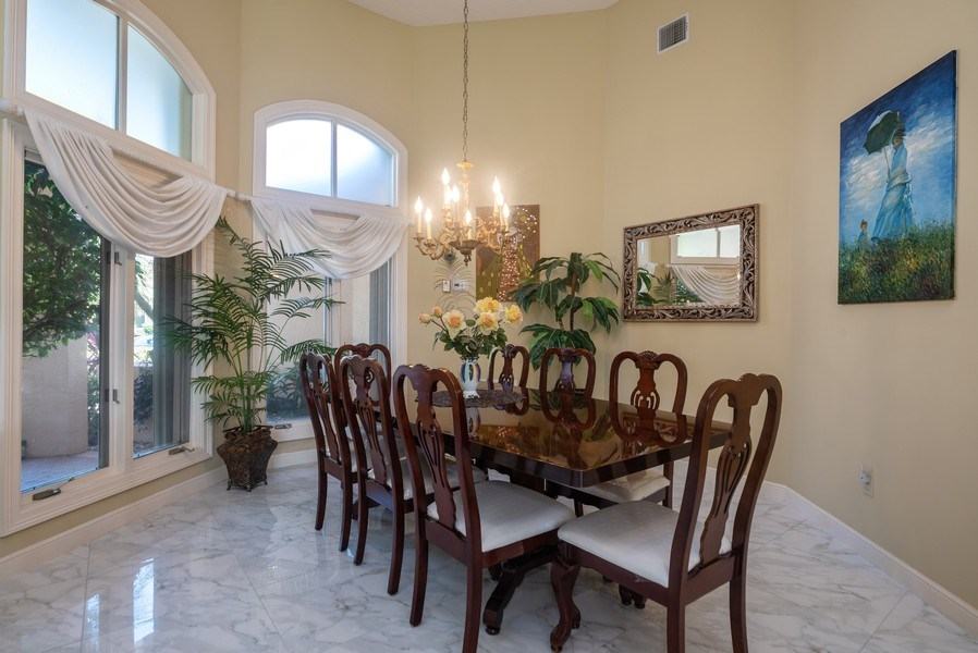 Real Estate Photography - 10467 Stonebridge Blvd., Boca Raton, FL, 33498 - Dining Room