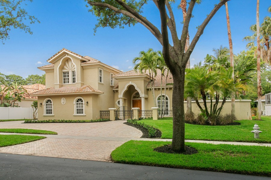 Real Estate Photography - 2440 Whispering Oaks Lane, Delray Beach, FL, 33445 - Front View