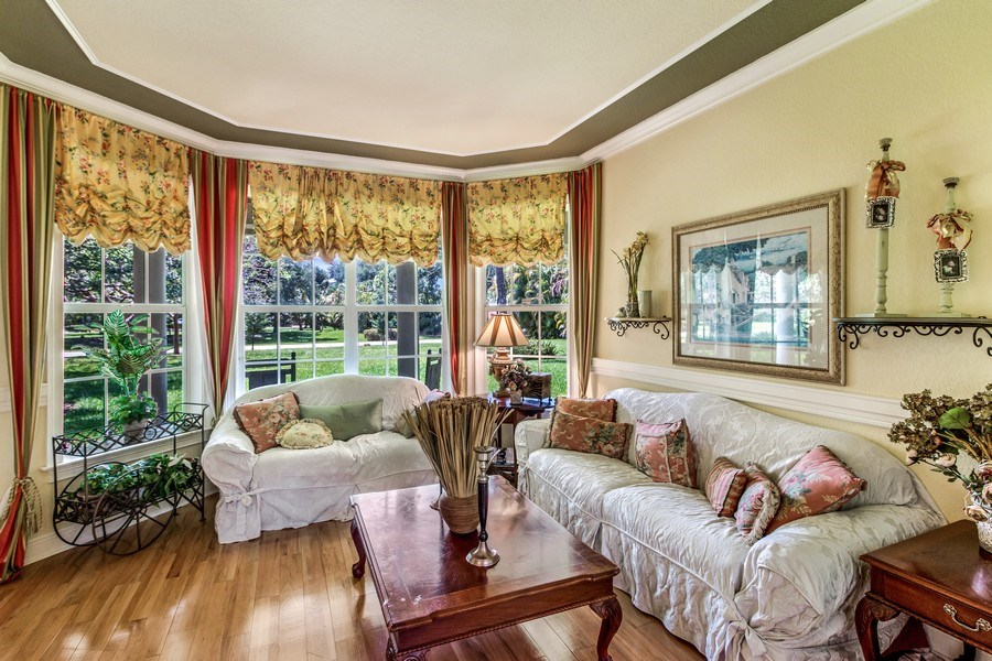 Real Estate Photography - 2425 Greenbriar Drive, Delray Beach, FL, 33445 - Living Room
